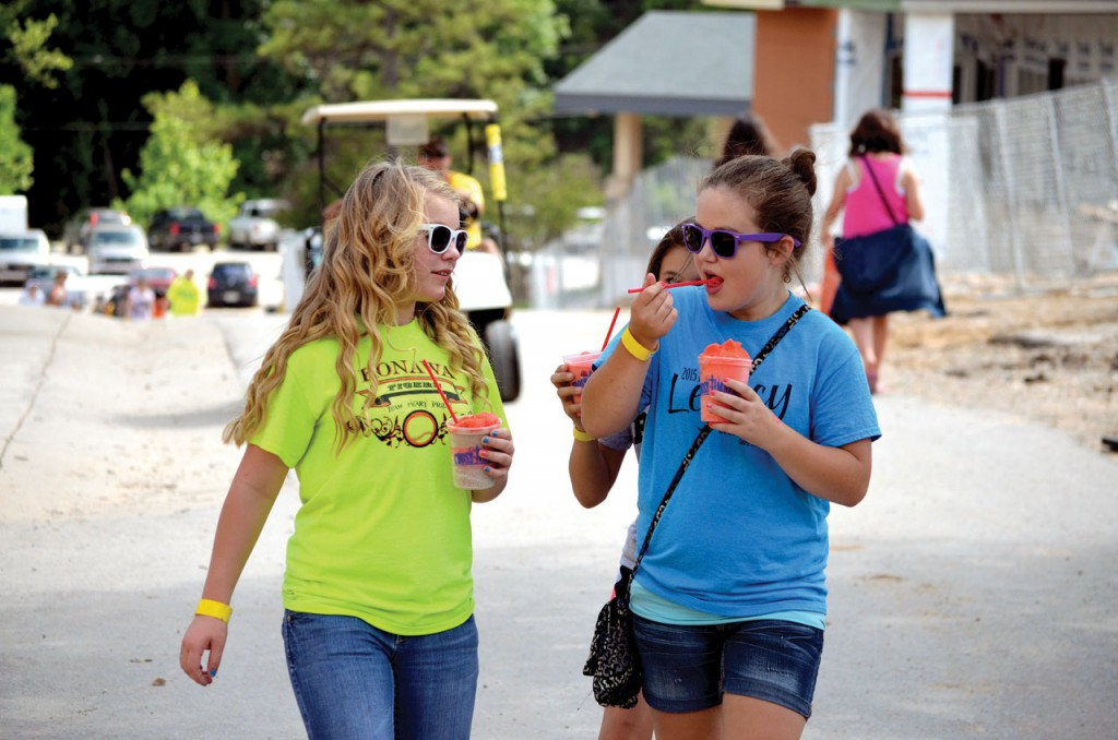 Enjoying an Icee is a Falls Creek tradition (Photo: Chris Doyle)