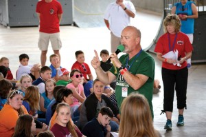 Bill Buchanan led campers in interactive games (Photo: Chris Doyle)