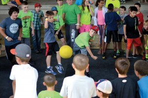 Gaga ball, a variation of dodgeball, also was enjoyed (Photo: Chris Doyle)