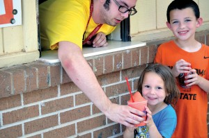 Gabby Davis from Weleetka, First received one of the first Icees served at Falls Creek this summer (Photo Chris Doyle)