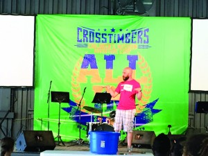 Cameron Whaley, pastor of Yukon, Canadian Valley, served as camp pastor for Session 6 at CrossTimbers. (Photo: Jordan Anson)