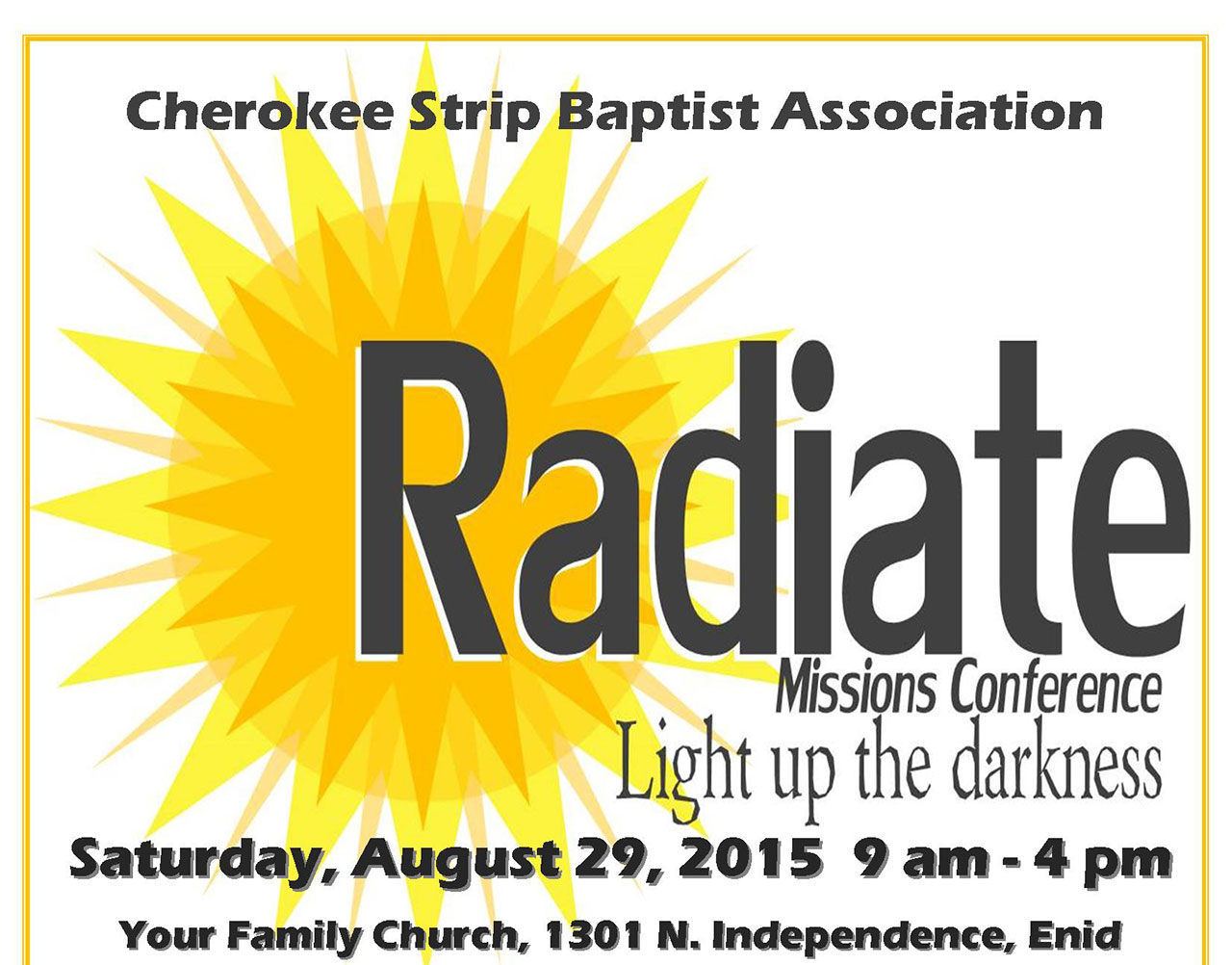 Radiate: Light Up the Darkness Missions Conference