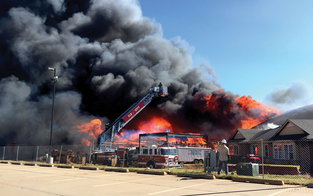 BVC Elk City total loss after fire