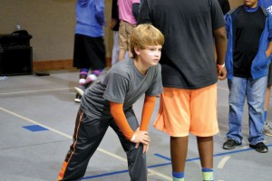 A dodgeball participant is ready to play during a 5th Quarter at Guthrie, First Southern (photos: provided)