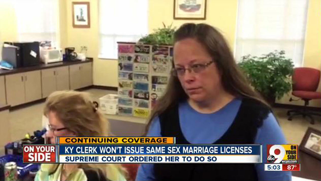 Judge jails Kentucky county clerk