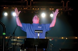 Randy Lind served as director of the Good News Choir. (Photo: Chris Doyle)