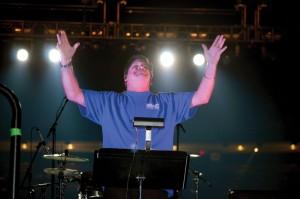 Randy Lind served as director of the Good News Choir. (Photo: Chris Doyle)