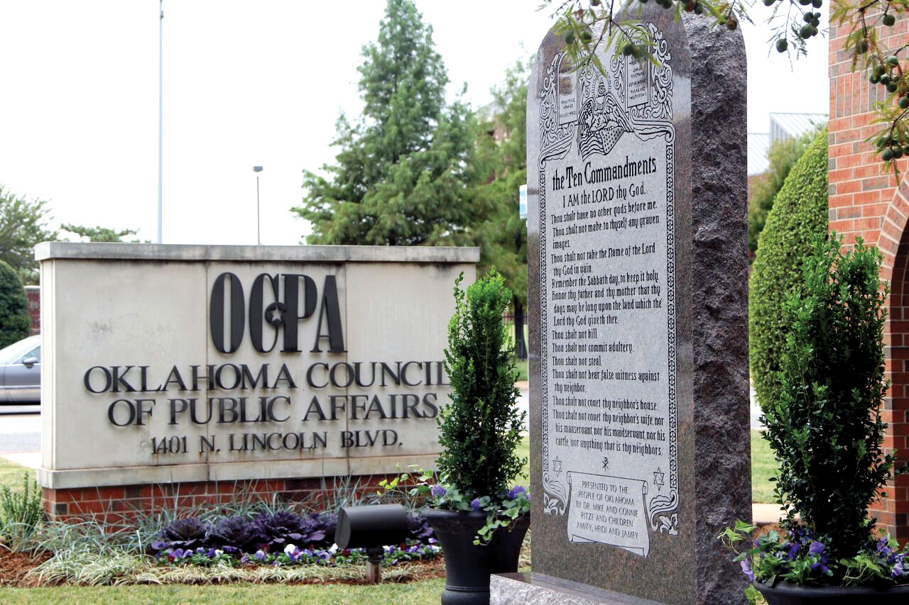 Ten Commandments monument moves to OCPA