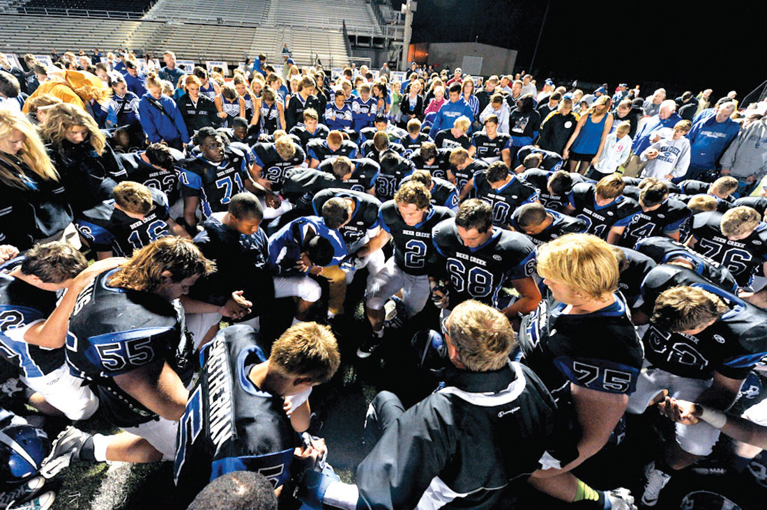 Prayer prevails on the playing field