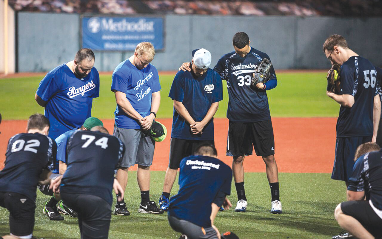 Seminary's softball team gives post-game witness