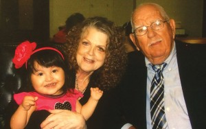 photo: provided TeAta and Jim Gattis, are shown with their daughter, Chloe, on the day their adoption of Chloe became official.