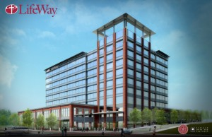 Artist's rendering of LifeWay Christian Resources' proposed new building near Nashville's central business district.