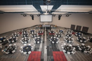 BGCO Board members, donors and honored guests enjoyed lunch and a program in the main auditorium in the Mathena Family Event Center.  (Photo: Austin Urton)