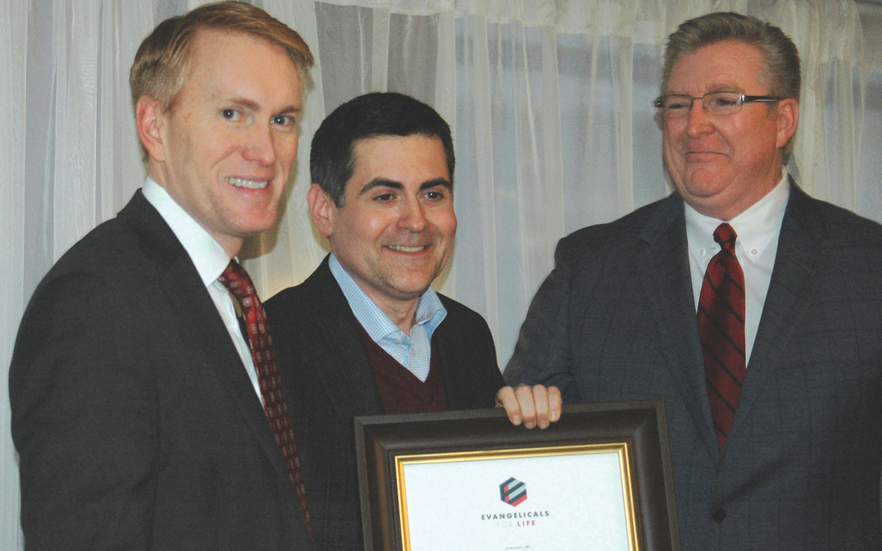 Lankford among three leaders honored for pro-life stance