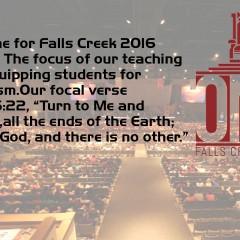 ONE: Falls Creek 2016