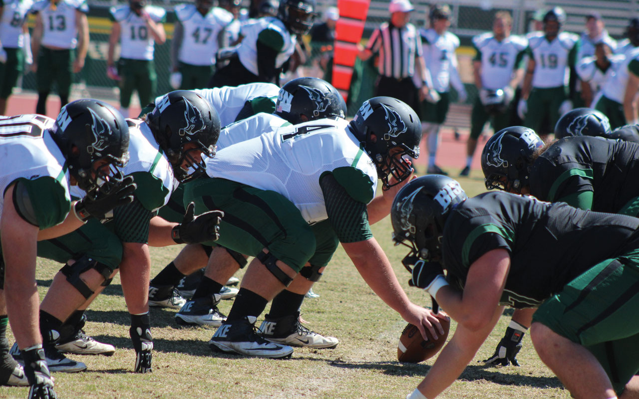 OBU football holds Spring Game