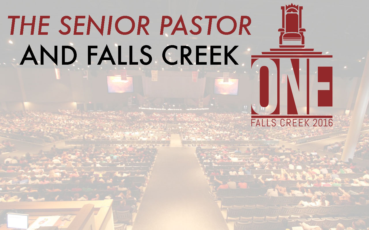 The senior pastor and Falls Creek
