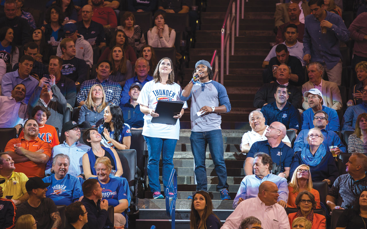 Overcoming obstacles, Malcolm Tubbs leads Thunder fans at home games