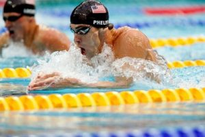 Michael Phelps competes in the 2008 Olympic Games in Beijing, where he won eight gold medals. BP file photo