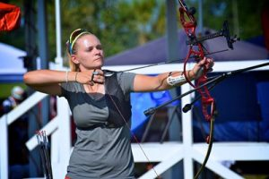 Mackenzie Brown, the fourth-ranked archer in the world, was upset in the round of 16 on Aug. 8, ending her hopes for a medal and bringing her first Olympic competition to a close. Brown's home church is Flint Baptist Church in Flint, Texas. Photo courtesy of USA Archery