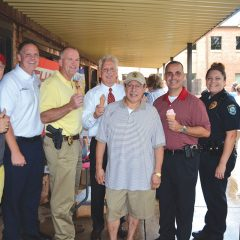 Midwest City, First honors  police, firefighters with ice cream social