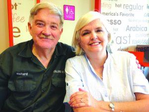 Richard and Deborah Collins. Photo: Corey Smith