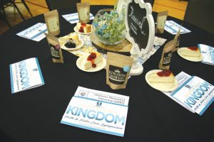 Table settings at Oklahoma Missionary Fellowship included a free bag of Kingdom Growers coffee.
