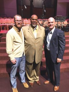 2017 Pastors' Conference officers. Left to right: Nick Atyia, Walter Wilson and Keith Wiginton