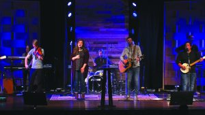 The Cody Dunbar Band leads worship during main services.