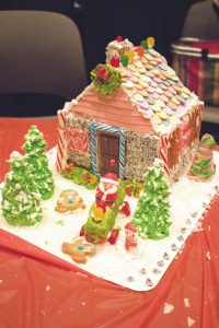 The winning house of the gingerbread house overall competition