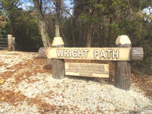The Wright Path and Wright Place at Falls Creek were dedicated in honor of Jonathan Wright