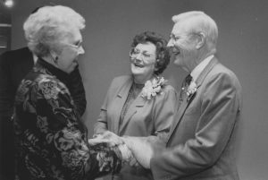Garlow and his wife Willa Ruth, center, shared a passion for people and for church work.