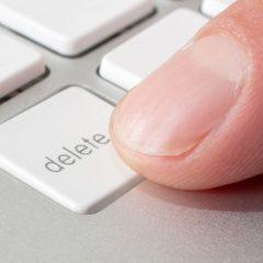 Perspective: Life's 'delete key'