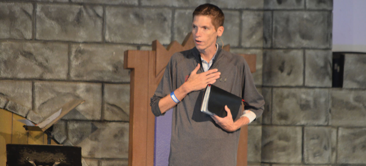 Hall speaks at CrossTimbers, by God's grace