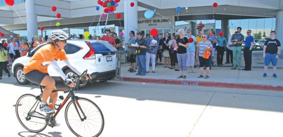 Duncan rides to 'Finish Well' on cross-country trek
