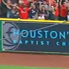 World Series: Astros wall ad spotlights Houston, First
