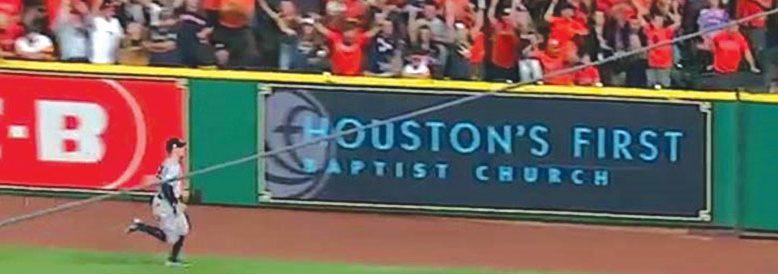 World Series: Astros wall ad spotlights Houston, First
