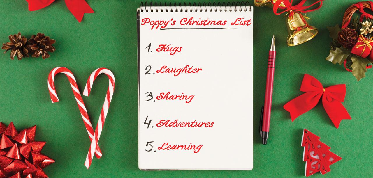 Rite of passage: Poppy's Christmas List