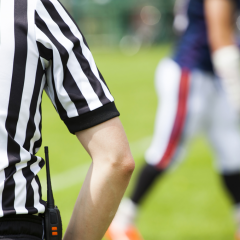 College football ref draws from faith