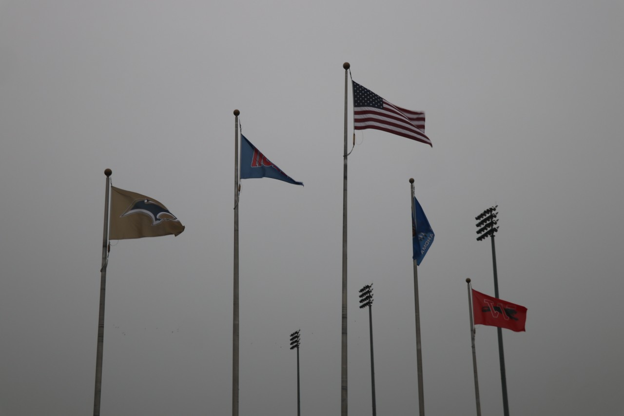 Flags at Moore HS