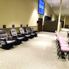 Rockers for young families at Skiatook, First encourage 'Let's sit together' movement
