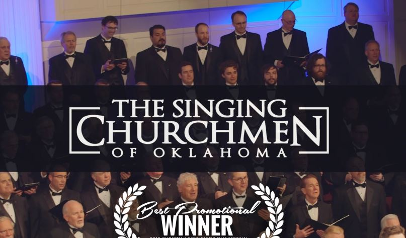 Singing Churchmen promo wins 'Best promotional film' at Christian Film Festival