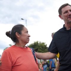 Chitwood on border thanks Baptists for Venezuela aid