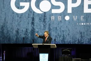 Rummage proclaims victory in Jesus 'because of the cross,' in annual sermon - Baptist Messenger of Oklahoma
