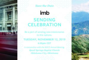 A celebration of 'goers and senders': Oklahoma Baptists to host IMB Sending Celebration Nov. 12 - Baptist Messenger of Oklahoma 1
