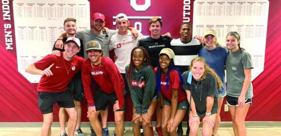 Adoh on the go: OU track athlete still serving God, has Olympic goals