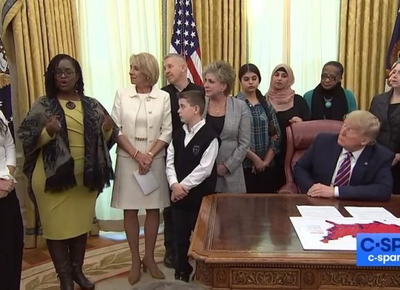 Trump affirms religious liberty in schools