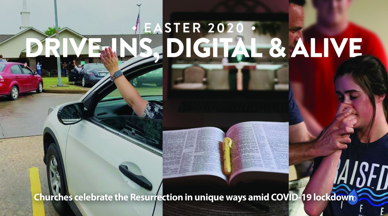 Drive-ins, digital & alive:  Churches celebrate the Resurrection in unique ways amid COVID-19 lockdown