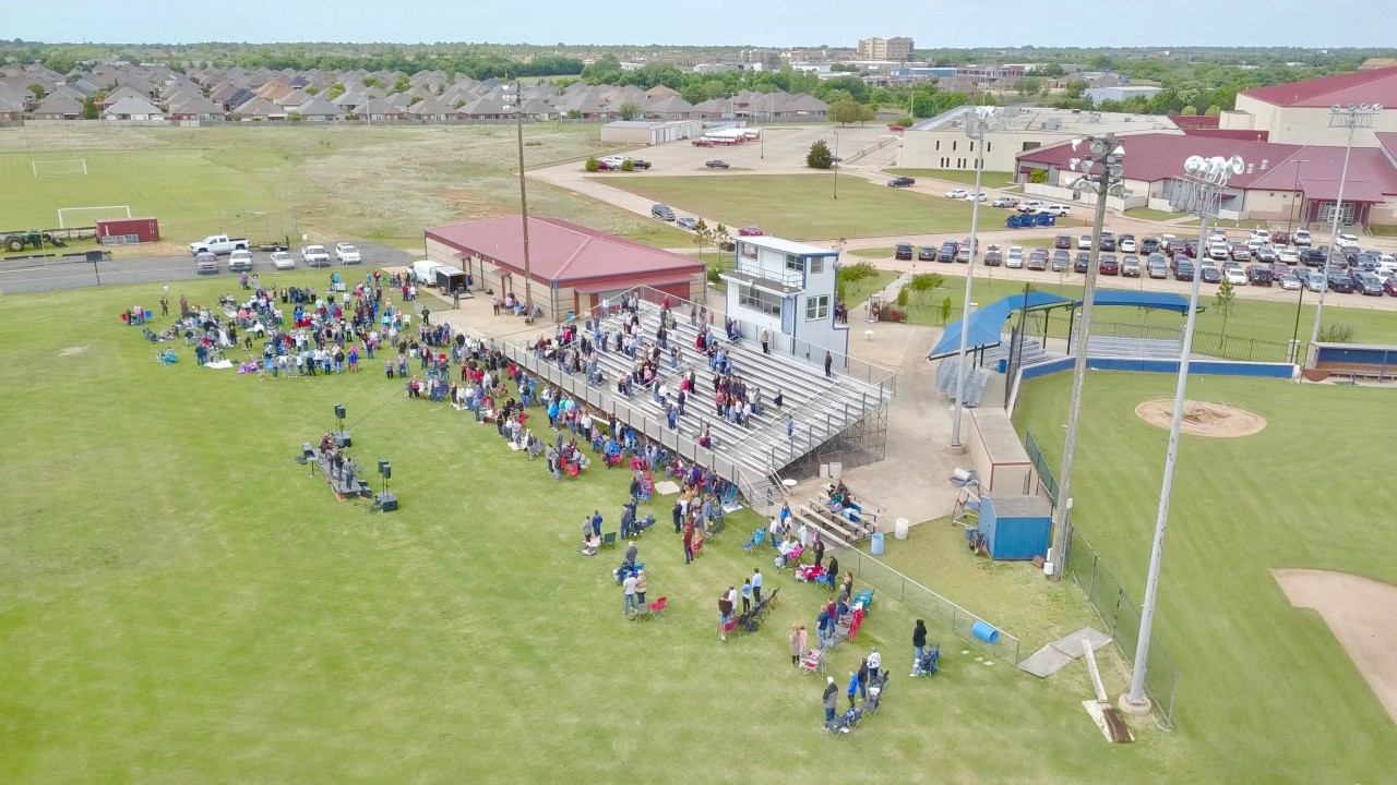 Del City, First Southern draws faithful for stadium service