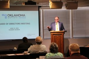 Pressing forward: Oklahoma Baptists' board revises budget, introduces new church planting strategy - Baptist Messenger of Oklahoma 1